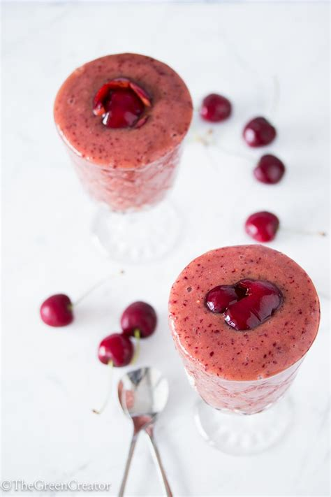 summer cherry smoothie the green creator