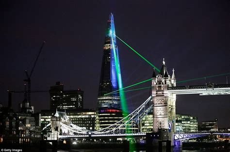 the shard at night the shard london opening laser show dazzles but would