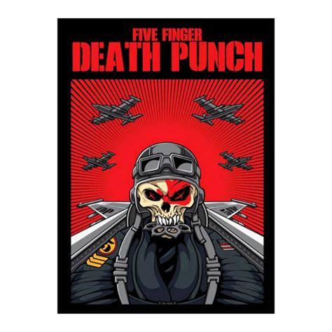 five finger death punch mn skull pilot poster five finger death punch