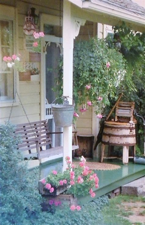 country porches country porch cottage feel pinterest