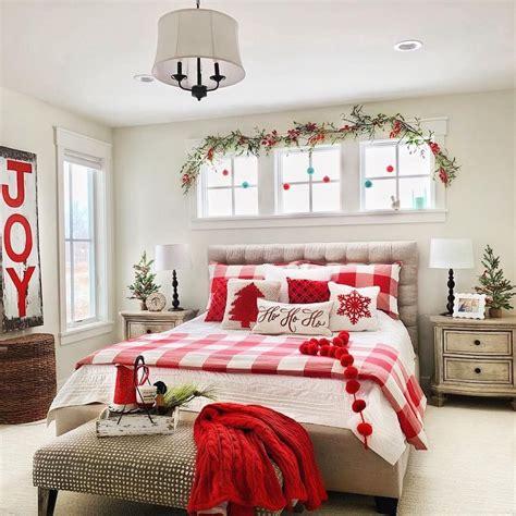 christmas bedroom decor ideas   cozy holiday bedroom