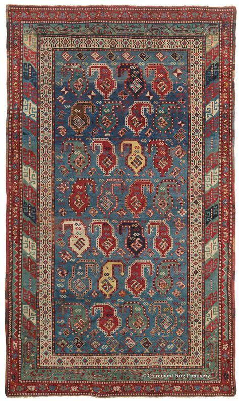claremont rugs 19th century gendje caucasian rug with blue and boteh