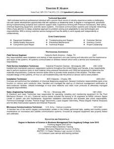 Field Service Technician Resume Sample resume sample field tech resume field service technician resume field