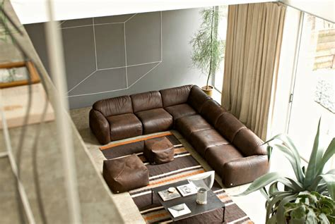 living room design with brown leather sofa ideas modern and minimalist living room design ideas by busnelli sofas busnelli couches