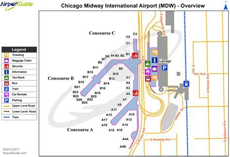 chicago midway map chicago chicago midway international mdw airport