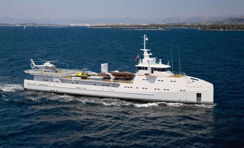 pursuit boats technical support first ever 69 meter yacht support vessel with helicopter