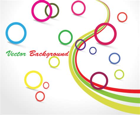 free design vector ai colorful circle graphic design background vector ai free