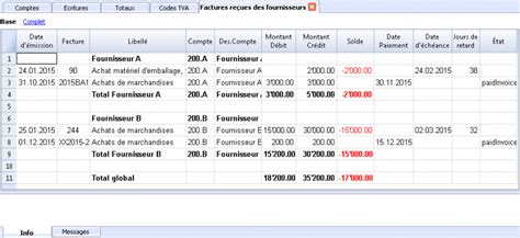 tableau tutorial italiano rapports et impressions banana accounting software