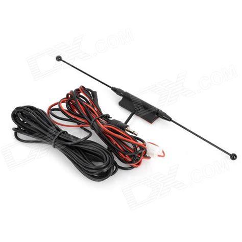 waterproof digital car tv antenna w fm radio black dealextreme