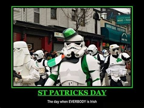 Happy St Patricks Day Meme - celebrating st patricks day with cats star wars yoga
