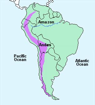 andes mountains map the gallery for gt andes mountains world map