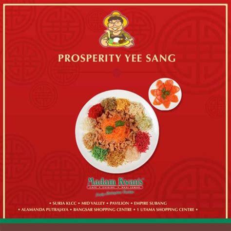 new year yee sang meaning prosperity yee sang madam kwan s food malaysia