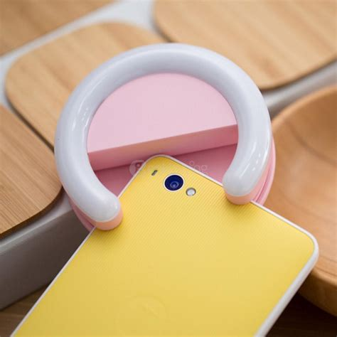 flashing light when phone rings android asnap smart ring selfie light phone led flash pink