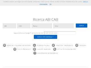 nome banca da abi e cab sito ricerca banche