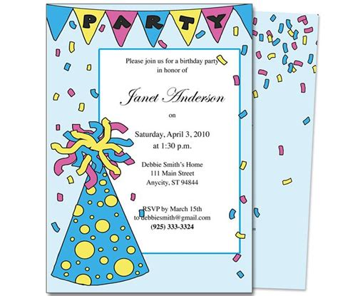 kid birthday invitation card template 7 best birthday invitation templates images on