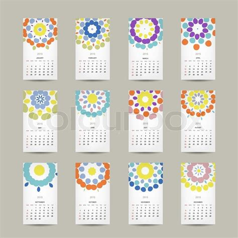 design sponge calendar 2015 calendar grid 2015 for your design floral ornament