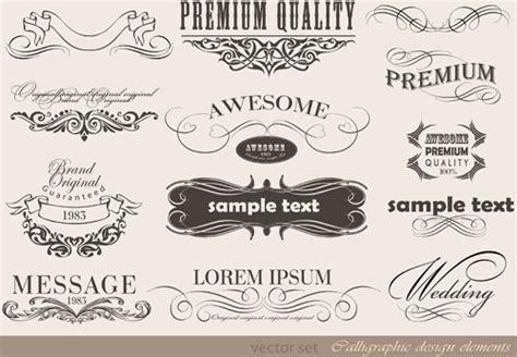 design elements vector vintage free vintage design element vectors free vector download