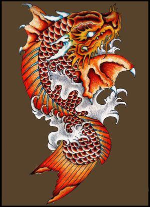 tattoo dragon koi fish dragon koi tattoo koi fish tattoo