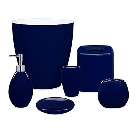 Wamsutta 174 Elements Navy Bath Ensemble Bedbathandbeyond Com Navy Blue Bathroom Accessories