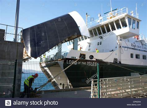 Ferry Door bow door open on the calmac caledonian macbrayne mv lord