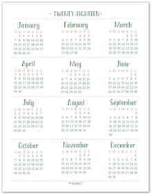 2018 Yearly Calendar Printable 2018 Dated Yearly Calendar Printables Are Here