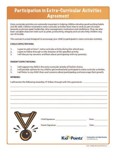 parent child behavior contract template 22 best images about behavior contract on