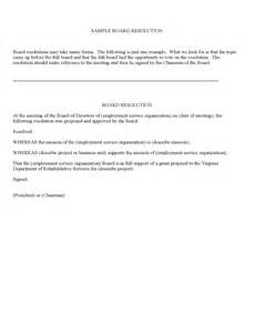 board resolutions template sle board resolution virginia free