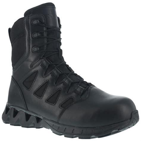 womens tactical boots reebok s duty zigkick side zip tactical boot