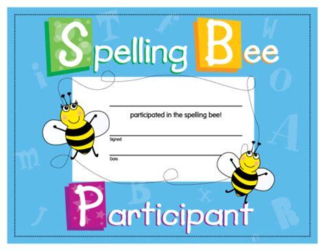 spelling bee certificate jenny schleich