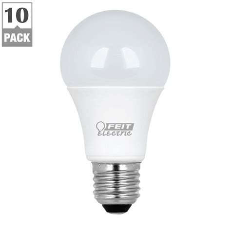 Led Light Bulb Equivalent Feit Electric 60w Equivalent Warm White A19 Led Light Bulb Maintenance Pack 10 Pack A800 830