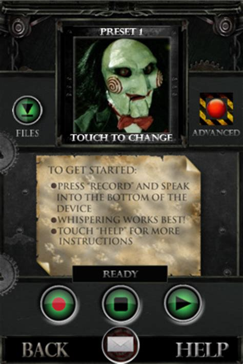 Get Jigsaws Bloody Recorder From The Saw 3 by Saw 3d Jigsaw Your Voice App For Iphone