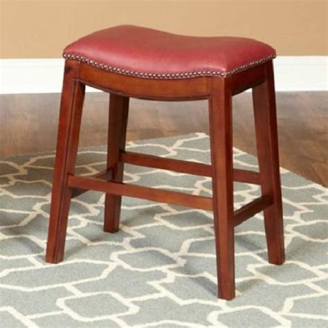 Leather Saddle Style Bar Stools by 30 Quot Faux Leather Nailhead Saddle Style Bar Counter Stools