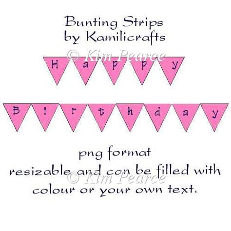 card bunting template bunting strips template 163 1 50 instant card