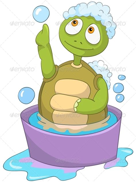 turtle in the bathtub song turtle baby washing graphicriver