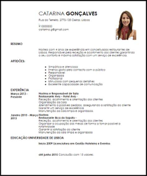 Modelo Cv Recepcionista Hotel Modelo Curriculum Vitae Hostess Livecareer
