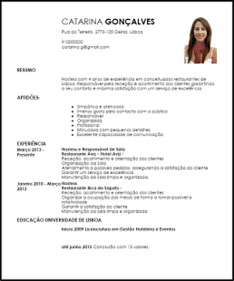 Modelo Curriculum Para Recepcionista Hotel Modelo Curriculum Vitae Hostess Livecareer