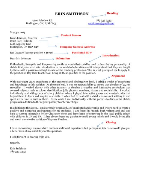 cover letter template canada sle cover letter for canada immigration application