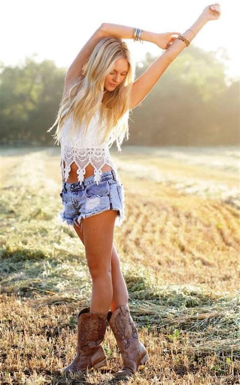 karina cowgirl fitness teen beauty does a girl who wears cowboy boots and shorts look weird
