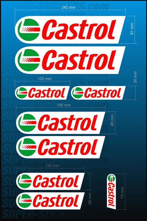 Castrol Aufkleber Set by Castrol Decal Kit Sticker Aufkleber Vinyl Adhesiva Mx Atv