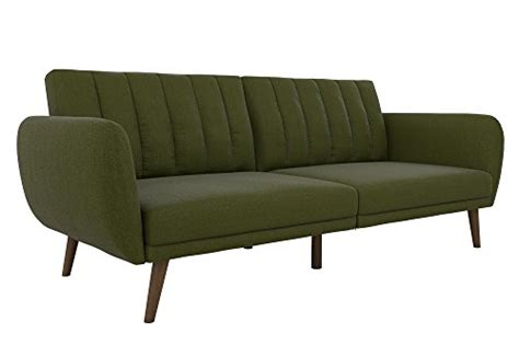 futon legs novogratz brittany sofa futon premium linen upholstery