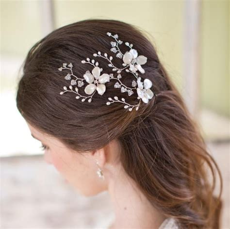 Home Design Diamonds may blossom hairpins pearl flower and swarovski crystal