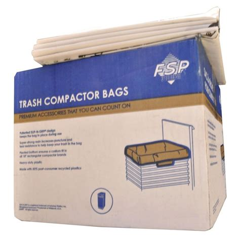 trash compactor bags whirlpool 18 in plastic compactor bags 60 pack