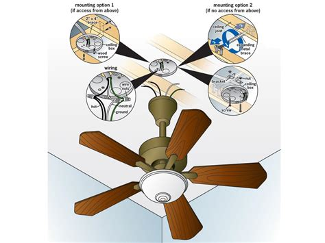 Installing Ceiling Fan Without Existing Wiring by How To Replace A Light Fixture With A Ceiling Fan How