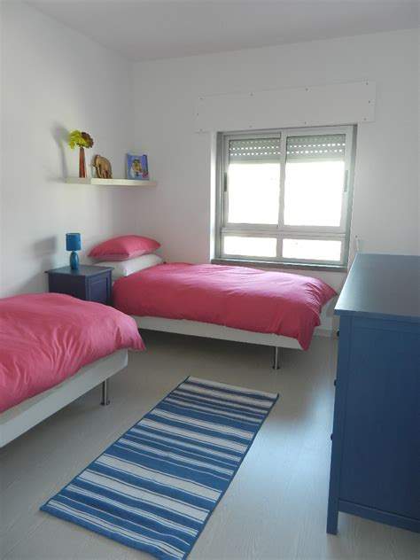 bedroom with 2 beds apartment layout apartment for rent in carcavelos near