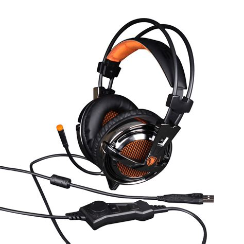 Headset Sades A6 sades a6 usb 7 1surround sound professional gaming headset headphone for pc