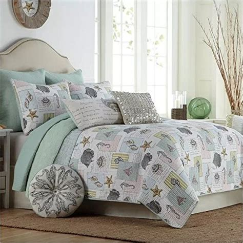 beach themed comforter sets queen lelva ocean bedding set seashells beach theme patchwork