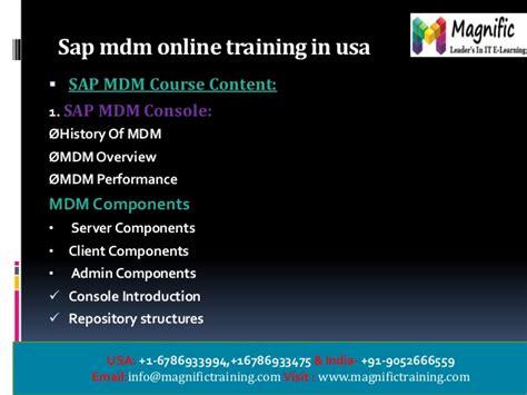 online tutorial in usa sap mdm inline training in usa