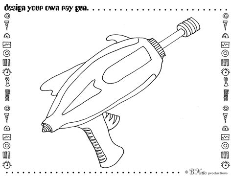 toy gun coloring page retro toy robot party invitations decorations art