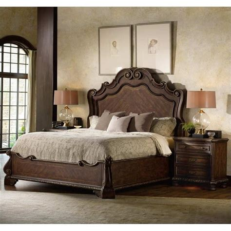 hooker bedroom set hooker furniture adagio panel bed 3 piece bedroom set