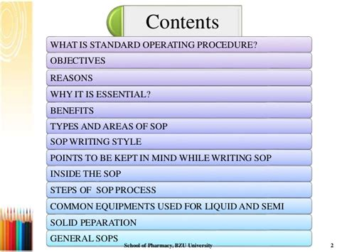 Standard Operating Procedue Ppt Sop Powerpoint Template
